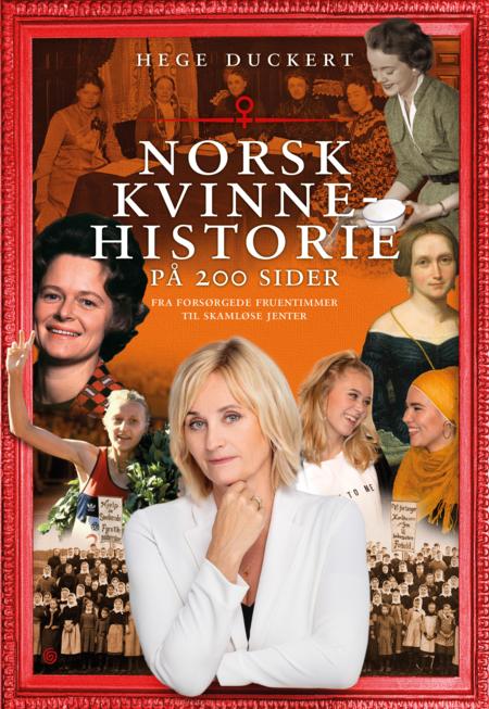 Omslag til boka Norsk kvinnehistorie på 200 sider.