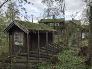 Lite hus i en hage
