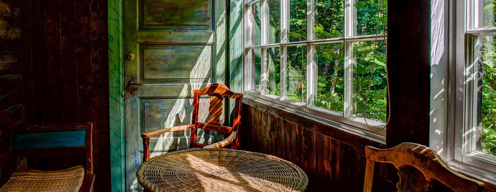 Glassverandaen på Bjerkebæk Sigrid Undsets hjem, Lillehammer