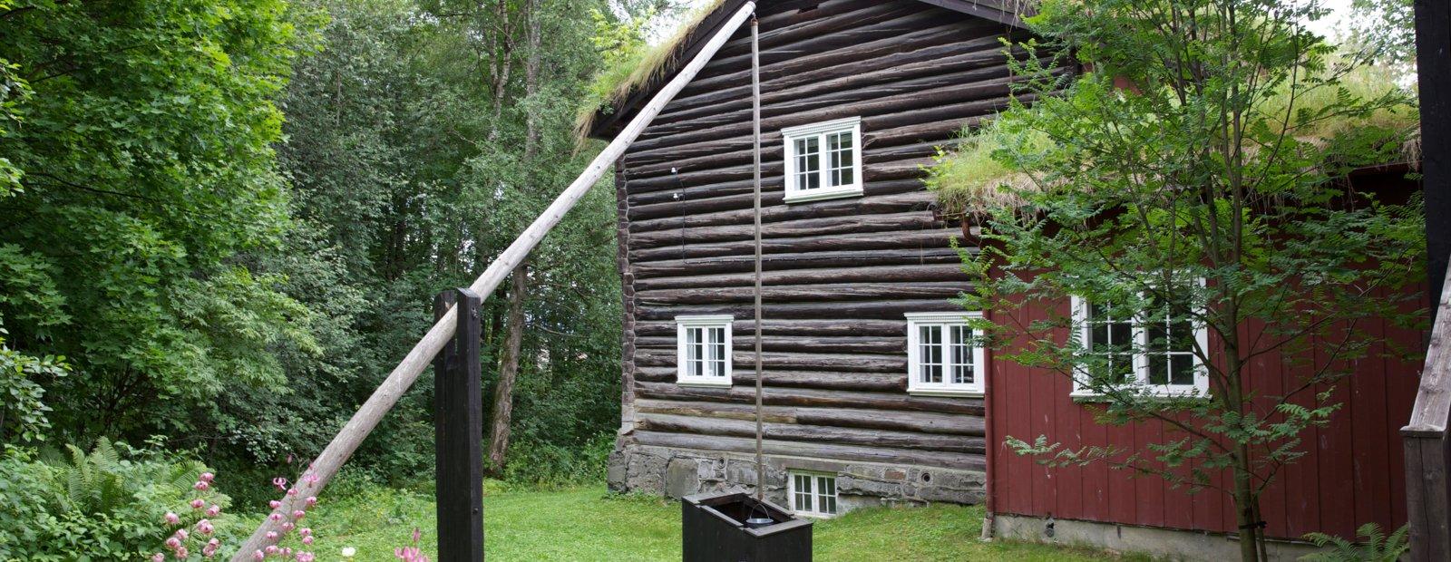 Fra hagen på Bjerkebæk, Lillehammer.