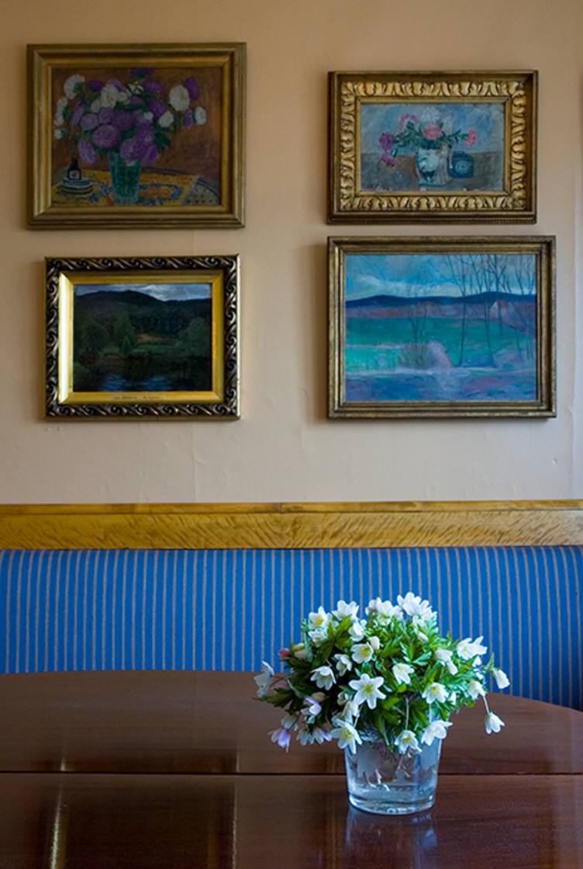 Fra dagligstua på Bjerkebæk Sigrid Undsets hjem