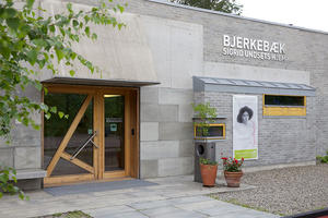 Hovedinngang, publikumsbygg, Bjerkebæk Sigrid Undsets hjem